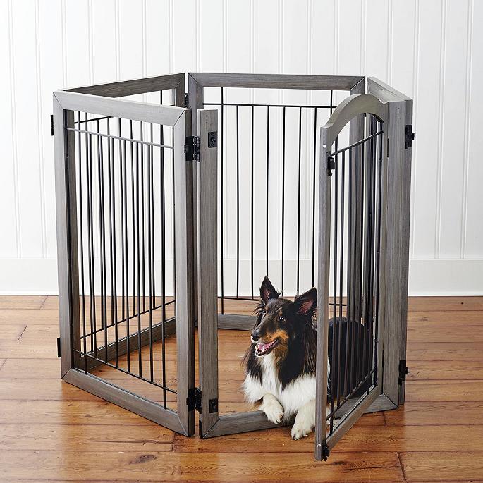 Ordinaire Six Panel Hardwood Pet Gate