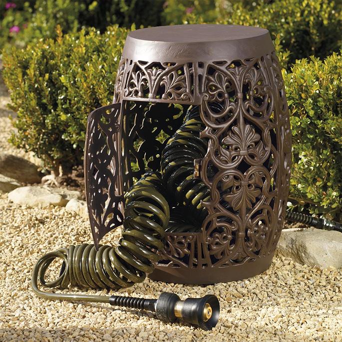 Coiled Hose Garden Storage Frontgate