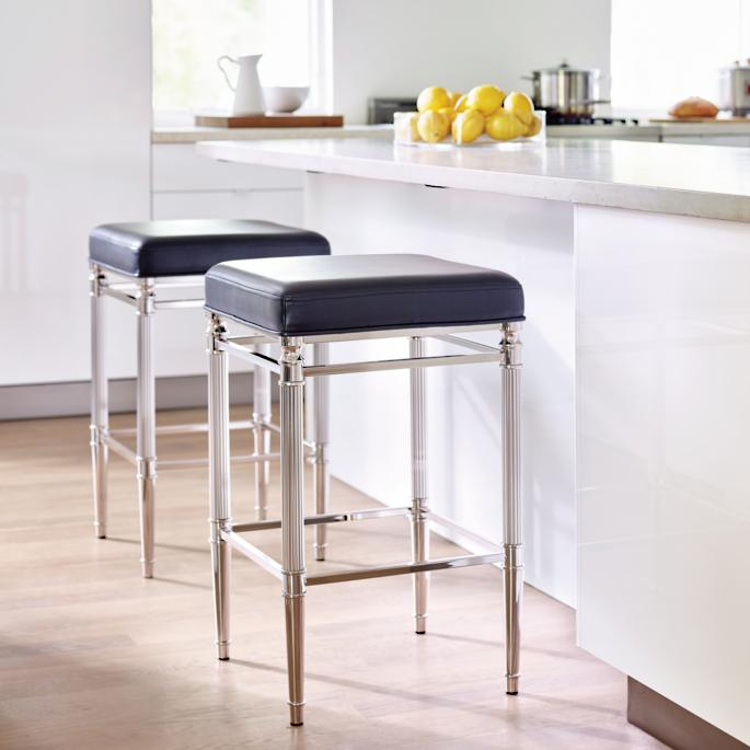 Admirable Bradenton Backless Bar And Counter Stools Frontgate Machost Co Dining Chair Design Ideas Machostcouk