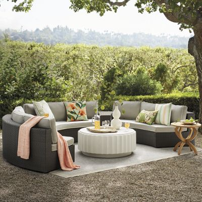 Pasadena  Pc Sofa Set In Bronze Finish