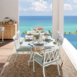 Grayson Dining In White Finish