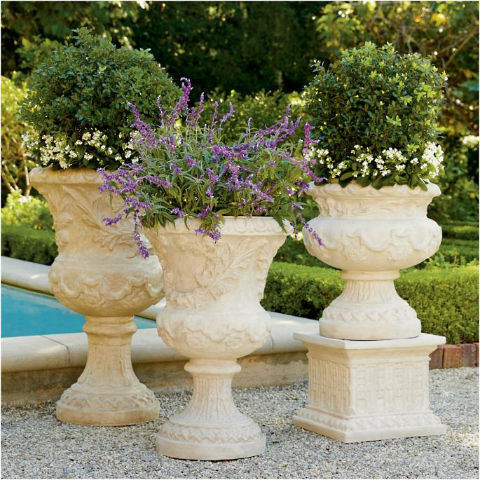 Provence Urns and Plinth | Frontgate on greek revival garden design, french garden furniture, french style gardens, mid-century modern garden design, primitive garden design, english garden design, french garden sheds, french cottage gardens, small cottage garden design, italian garden design, french small garden design, floral garden design, french garden drawing designs, french garden house design, prairie garden design, vintage garden design, tuscan garden design, autumn garden design, victorian garden design, dragonfly garden design,