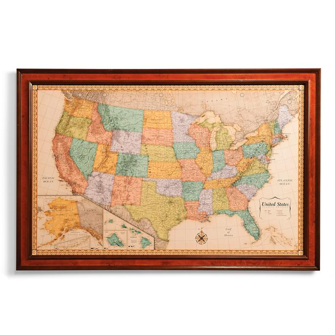 Us Magnetic Travel Map Frontgate - Us-travel-map