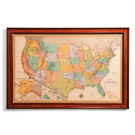 Magnetic travel maps frontgate us magnetic travel map gumiabroncs Gallery