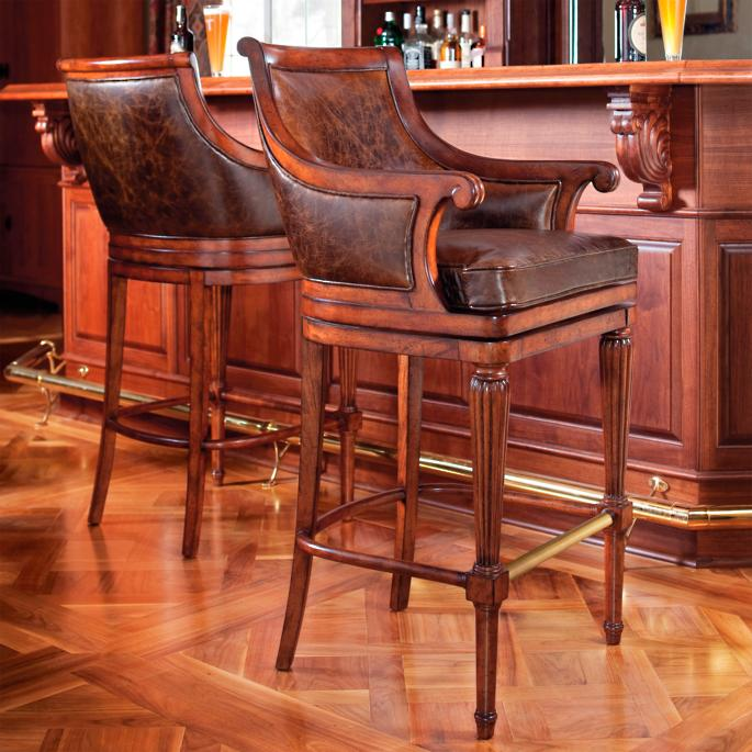 Fabulous Lonsdale Leather Bar And Counter Stools Frontgate Pdpeps Interior Chair Design Pdpepsorg