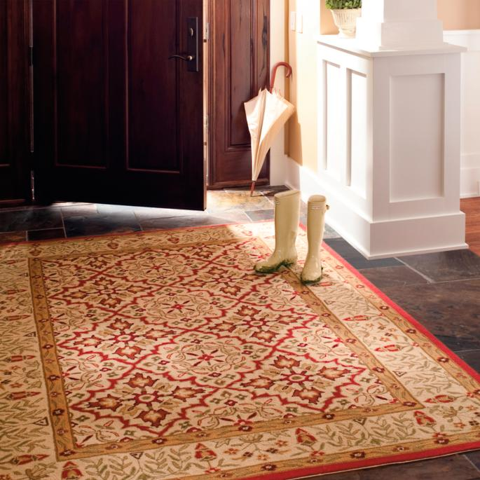 Sophia Ivory Easy Care Rugs Frontgate