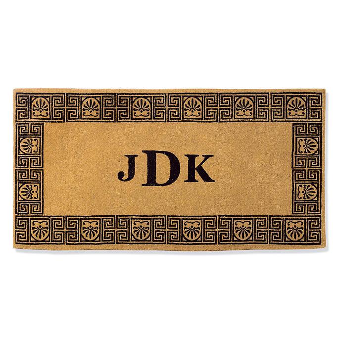 Greek Key Monogrammed Door Mat Frontgate